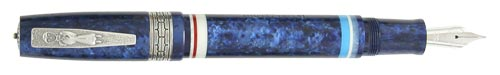 Delta Limited Editions - Indigenous People - Ainu - Year: 2005  - Silver Trim - Edition: 1643 of each - Fountain Pen (Cartridge/Converter)-18 Kt Gold Nib