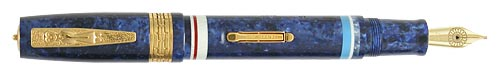 Delta Limited Editions - Indigenous People - Ainu - Year: 2005 - Vermeil Trim - Edition: 1643 of each  - Fountain Pen (Lever Fill)-18 Kt Gold Nib