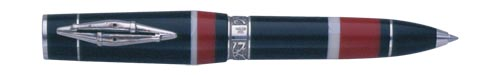 Delta Limited Editions - Indigenous People - Maori - Year: 2004 - Silver Trim  - Edition: 1642 of each  - Convertible Ball Pen