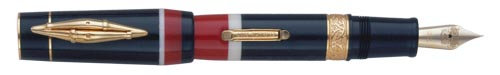 Delta Limited Editions - Indigenous People - Maori - Year: 2004  - Vermeil Trim  - Edition: 1642 of each - Fountain Pen (Lever Fill)-18 Kt Gold Nib