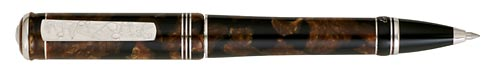 Delta Limited Editions - Enrico Caruso - Year: 2007 - Celluloid/ Rhodium Plated Trim - Edition: 1873 Pens - Convertible Rollerball