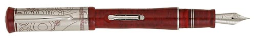 Delta Limited Editions - Puccini - Year: 2006 - Sterling & Ruby Resin - Edition: 858 - Fountain Pen (Lever Fill)-18 Kt Gold Nib