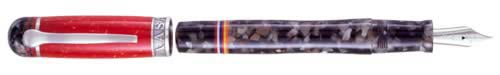 Delta Limited Editions - Indigenous People - Maasai - Year: 2003 - Silver  - Edition: 1880 Pens - Fountain Pen (Cartridge/Converter)-18 Kt Gold Nib