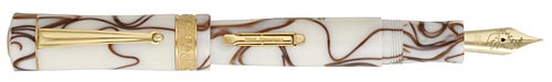 Delta Limited Editions - Peace - Year: 2006  - Vermeil Trim - Edition: 994 of each - Fountain Pen (Lever Fill)-18 Kt Gold Nib