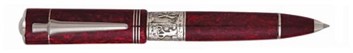 Delta Limited Editions - Don Quijote  - Year: 2005 - Burgundy - Edition: 1605 Pens - Convertible Ball Pen