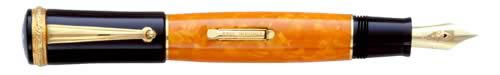 Delta Limited Editions - 20th Anniversary - Lever Fill - Year: 2002 - Vermeil Trim  - Edition: 982 Pens Worldwide - Fountain Pen-18 Kt Gold Nib