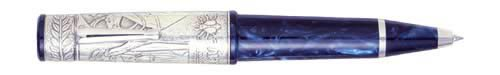 Delta Limited Editions - Napoleon Bonaparte - Year: 2002 - Sterling/Blue  - Edition: 808 Pens - Convertible Rollerball/Ball Pen