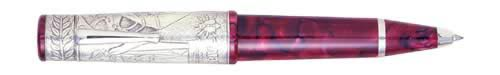 Delta Limited Editions - Napoleon Bonaparte - Year: 2002 - Sterling/Red  - Edition: 808 Pens - Convertible Rollerball/Ball Pen