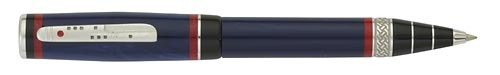 Delta Limited Editions - Maya - Year: 2011 - Blue/Silver - Edition: 800 Pens - Rollerball/Ball Pen