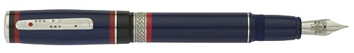 Delta Limited Editions - Maya - Year: 2011 - Blue/Silver - Edition: 800 Pens - Fountain Pen
