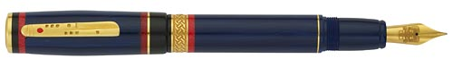 Delta Limited Editions - Maya Special Limited Edition - Year: 2011 - Blue/Gold Vermeil - Edition: 800 Pens - Fountain Pen