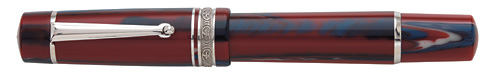 Red/Blue Resin/Sterling Trim  finish - Rollerball shown