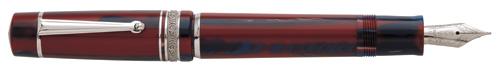 Red/Blue Resin/Sterling Trim  finish - Piston Fill Fountain Pen shown