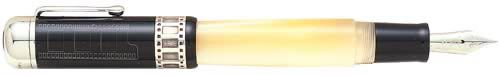 Delta Limited Editions - Fellini - Year: 2001 - Black & Pearl Ivory Resin  - Edition: 1920 Pens Worldwide - Fountain Pen