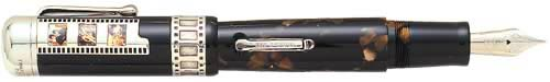 Delta Limited Editions - Federico Fellini - Year: 2001 - Celluloid,Black Resin & Sterling - Edition: 920 Pens Worldwide - Fountain Pen