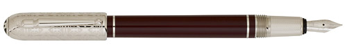 Dunhill Limited Editions - Sidecar Victorian - Year: 2008 - Burgundy Lacquer/Palladium Plated - Edition: 250 - Fountain Pen(18 kt  Gold Nib)-Cartridge/Converter