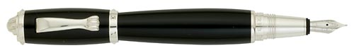 Dunhill Limited Editions - Bulldog - Year: 2009 - Black/Silver - Edition: 350 Fountain Pens - Fountain Pen