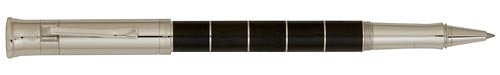 Anello-Ebonywood-Platinum Rings finish - Rollerball shown
