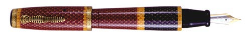 Krone Limited Editions - Coral - Year: 2003 - Hand Painted Coral Snake Skin - Edition: 80 Fountain Pens - Fountain Pen