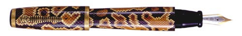 Krone Limited Editions - Python - Year: 2003 - Hand Painted Python Skin - Edition: 80 Fountain Pens - Fountain Pen