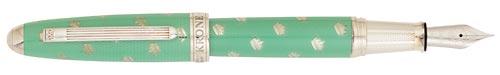 Krone - Echo Metals - Julep Green    Fountain Pen (18kt Nib)