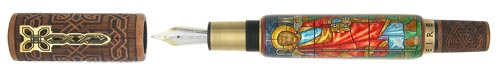 Krone Limited Editions - Saint Patrick - Year: 2004  - Hand Painted-Mother of Pearl/Sterling/Briarwood - Edition: 28 Rollerballs - Rollerball (Representive Image) #5 of 28