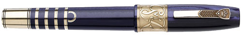 Krone Limited Editions - King George VI - Year: 2011 - Royal Purple Celluoid/Bronze Trim - Edition: 388 Fountain Pens - Fountain Pen