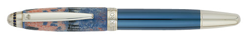 Krone Limited Editions - John F. Kennedy - Year: 2011 - Sterling Silver/15 Sapphires/Lacquer - Edition: 388 Rollerballs - Rollerball