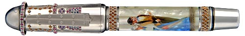 Krone Limited Editions - Moulin Rouge - Year: 2005 - Hand Painted Mother of Pearl - Edition: 288 Fountain Pens  - Fountain Pen
