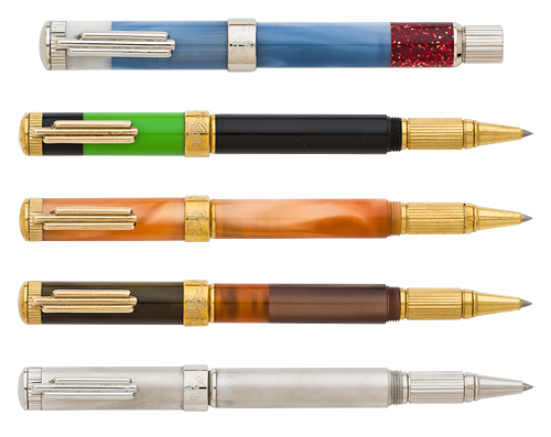 Krone Limited Editions - Wizard of Oz 5-piece Set - Year: 2015 - 5 Piece Rollerball Set - Edition: 88 Sets - Convertible Capped Ballpoint/Rollerball