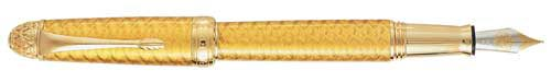 Michel Perchin Limited Editions - Yellow Coronation Faberge - Year: 1997 - Edition: Aggregate  of 1,000 Fountain Pens and Rollerballs - Fountain Pen