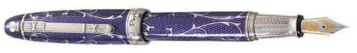 Michel Perchin Limited Editions - Blue Monogram - Year: 1998 - Edition: 1,000 Fountain Pens and Rollerballs - Fountain Pen