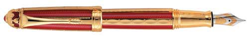 Michel Perchin Limited Editions - Red and Gold - Year: 1996 - Edition: 500 Pens - Fountain Pen and Rollerball