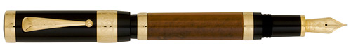 Montblanc Limited Editions - Francois I - Patron of the Arts - Year: 2008 - Black/Brown, Gold Trim - Fountain Pen
