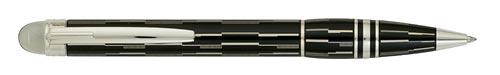 Montblanc - Starwalker Black Mystery - Black Lacquer/Platinum Plated Ball Pen  (Reg: $510)