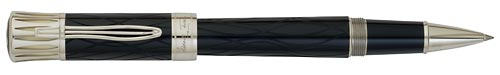 Montblanc Limited Editions - Mark Twain - Year: 2010 - Deep Blue/Platinum-Plated - Rollerball
