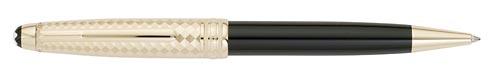 Montblanc - Solitaire Geometric Dimension - Doue Black/Gold  - #105987 Ball Pen  (Reg: $670)