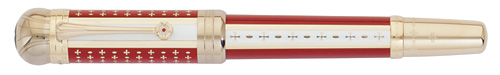 Montblanc Limited Editions - Joseph II Patron of the Arts - Year: 2012 - Red/White Lacquer - Gold Trim - Edition: 4810 Pens - Fountain Pen