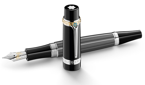 Montblanc Limited Editions - Honore de Balzac Writers Edition - Year: 2013 - Black Resin-Platinum & Gold Plating  - Edition: 10,000 Fountain Pens - Fountain Pen