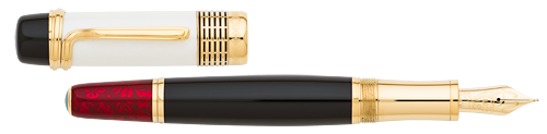 Montblanc Limited Editions - Luciano Pavarotti - Year: 2015(Reg: $2,535) - White Lacquer - Edition: 4810 Pens - Fountain Pen