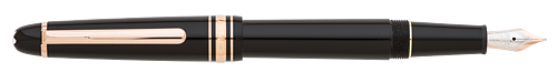 Black with Red Gold Trim finish - Classique #145 Fountain Pen  (Reg: $580) shown