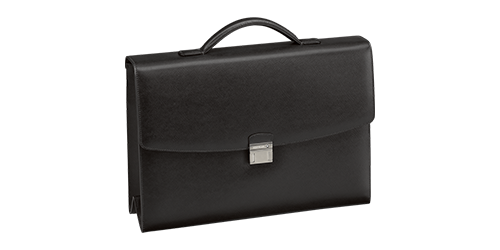 Black finish - Single Gusset Briefcase - #113176 shown