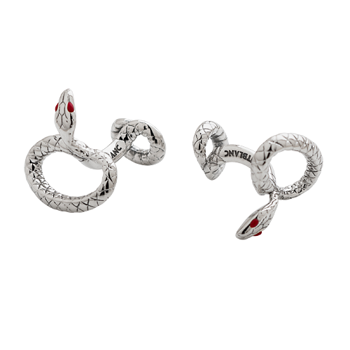Sterling Silver/Red Lacquered Eyes  finish - Cufflinks (Reg: $450) shown