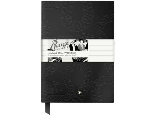 Rouge & Noir 1906 Lined - 96 Pages 6x 8.2 in. Special Edition - Serpent Motif on Cover finish - Notebook  shown