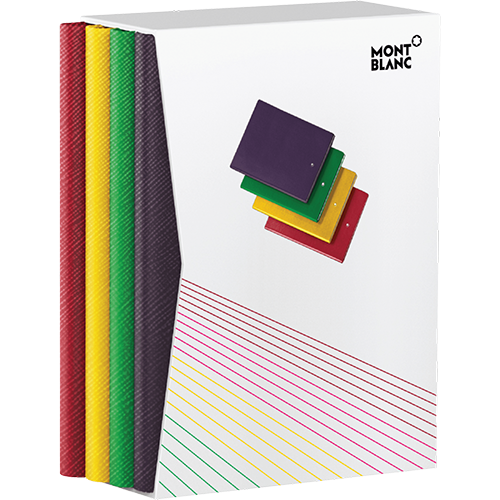 #146 Lined Notebook Rainbow Set-Each 192 Pages; 6x 8.2 in.  finish - 4 Notebook Set shown