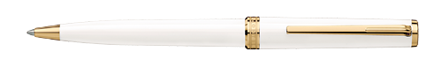Montblanc - Pix - White/Gold Plated Trim Ball Pen  (Reg: $250)