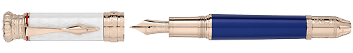 Montblanc Limited Editions - Ludwig II - Year: 2018 - White & Blue - Edition: 4810 Fountain Pens - Fountain Pen