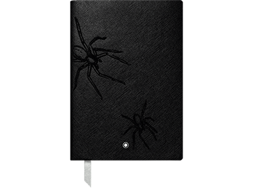 #146 Heritage Rouge & Noir Spider, Lined -192 Pages 6x 8.2 in. - Spider Motif on Cover finish - Lined Notebook-192 pages- 6x8.2 in. shown
