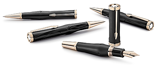 Montblanc Limited Editions - Homer Writers Edition - Year: 2018 - Black  - Edition: 800 Sets - Set-Fountain Pen, Ball Pen & 0.7mm Pencil