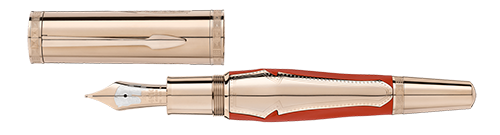 Montblanc Limited Editions - Homer 1581 Writers Edition - Year: 2018 - Coral & Gold  - Edition: 1581 Fountain Pens - Fountain Pen (Reg: $4,700)